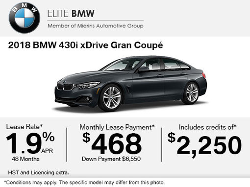 Get the 2018 BMW 430i xDrive Gran Coupé Today!