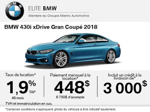 Conduisez un BMW 430i xDrive Gran Coupé 2018 aujourd'hui!