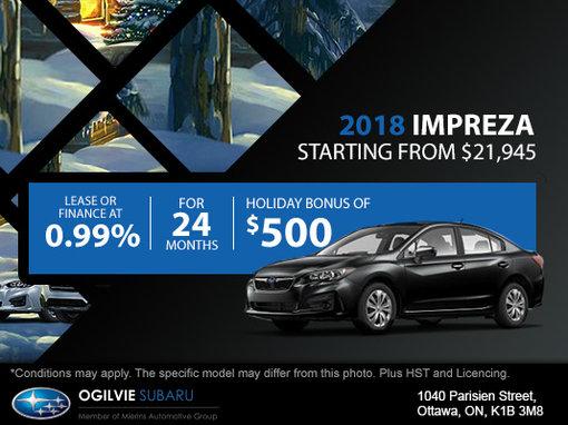 Get the 2018 Subaru Impreza