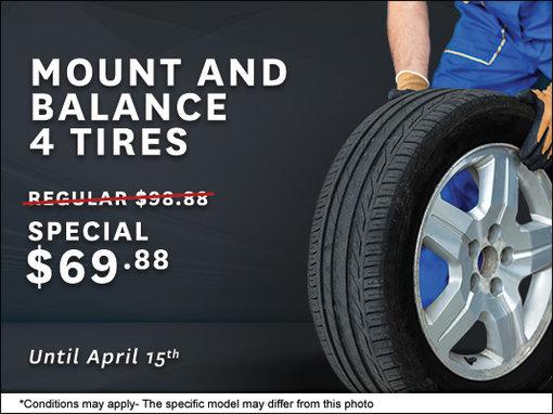 Mount And Balance 4 Tires Civic Motors Honda Promotion In Ottawa