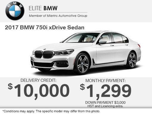 Get The 2017 BMW 750i XDrive Sedan