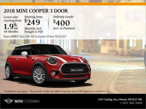 Get the 2018 MINI Cooper 3-Door!