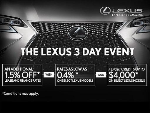 The Lexus 3 Day Event