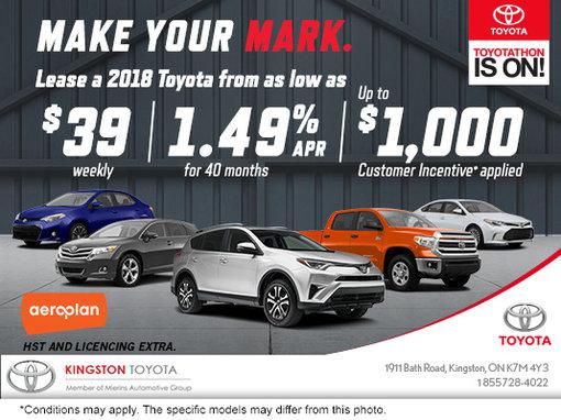 Toyotathon Sales Event at Kingston Toyota