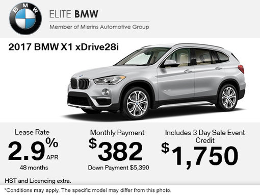 Get The 2017 BMW X1 XDrive28i Today