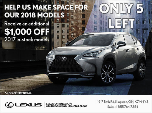 Help Us Make Space for our 2018 Models