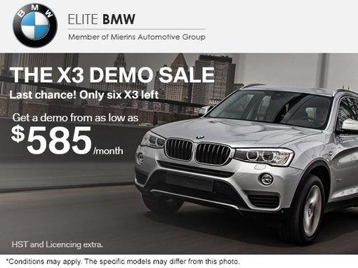 The X3 Demo Sale