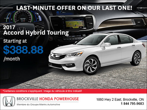 Save On Our Last 2017 Accord Hybrid!