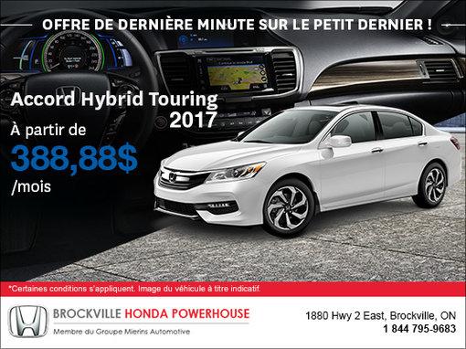 Dernière chance sur notre dernière Accord Hybride 2017!