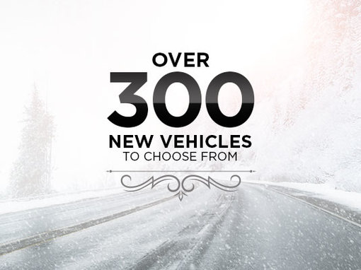 Over 300 New Vehicles!