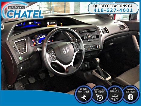Honda Civic Coupe LX - CRUISE - BLUETOOTH - SIÈGES CHAUFFANTS 2014