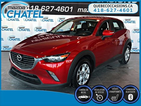 2017 Mazda CX-3 GS AWD - SIEGES CHAUFFANTS - CAMÉRA - BLUETOOTH