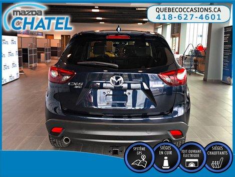 2016 Mazda CX-5 GT AWD - CUIR - TOIT OUVRANT - SIÈGES CHAUFFANTS