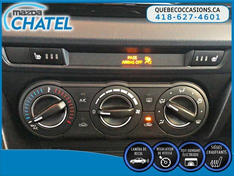 2015  Mazda3 Sport GS - TOIT OUVRANT - CAMÉRA - SIEGES CHAUFFANTS