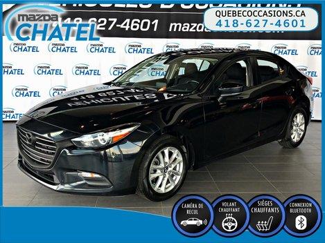 2017  Mazda3 GS - SIÈGES CHAUFFANTS - CAMÉRA - BLUETOOTH