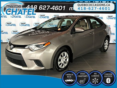 Toyota Corolla LE ECO - SIEGES CHAUFFANTS - BLUETOOTH - A/C 2014