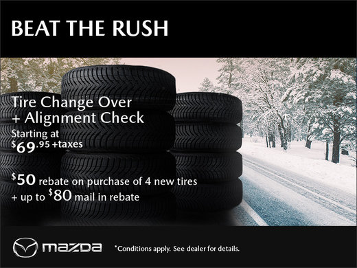 Tire Change & Alignment Offer!