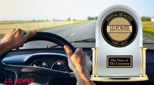 Ford Motor Company earns its best-ever score in 2018 J.D. power initial quality study; five nameplates receive highest honors