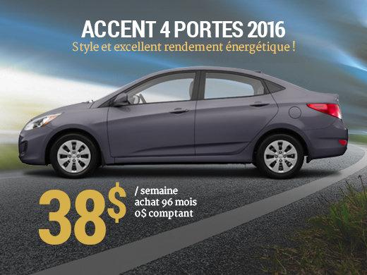 38 par semaine pour une hyundai accent 4 portes 2016 for Accent meuble trois rivieres