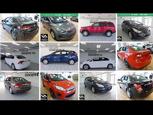 Grand inventaire de véhicules d'occasion à moins de 10 000$! chez Groupe Vincent à Shawinigan et Trois-Rivières
