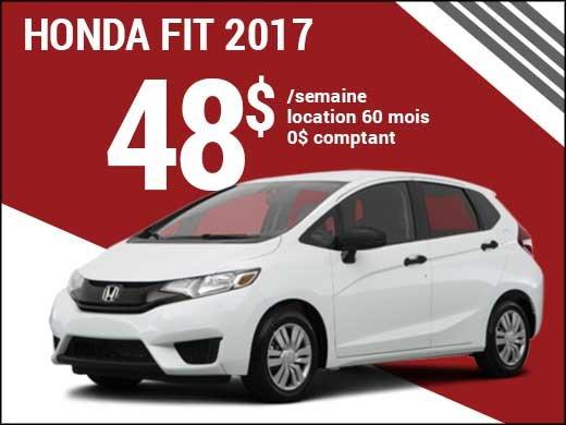 Une Honda Fit 2017 pour 48$ par semaine chez Avantage Honda à Shawinigan