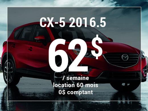 Un Mazda CX-5 2016.5 à partir de 62$ par semaine chez Prestige Mazda à Shawinigan