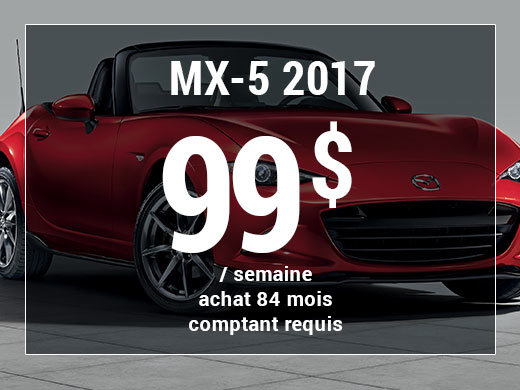 Roulez en Mazda MX-5 2017 à partir de 99$/sem. chez Prestige Mazda à Shawinigan