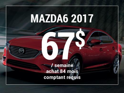Roulez en Mazda6 GX 2017 à partir de 67$ / semaine chez Prestige Mazda à Shawinigan