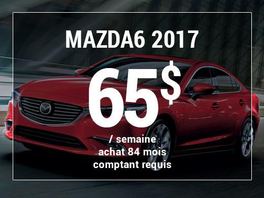 Roulez en Mazda6 GX 2017 à partir de 65$ / semaine chez Prestige Mazda à Shawinigan