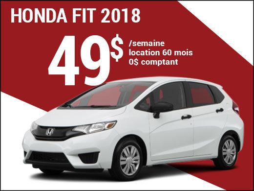 Une Honda Fit 2018 pour 49$ par semaine chez Avantage Honda à Shawinigan