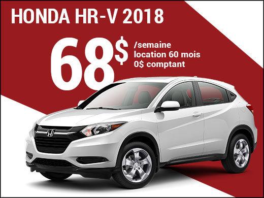 68$ par semaine pour rouler en Honda HR-V 2018 chez Avantage Honda à Shawinigan