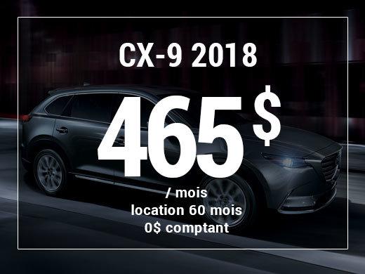 Un Mazda CX-9 2018 à partir de 465$ par mois chez Prestige Mazda à Shawinigan