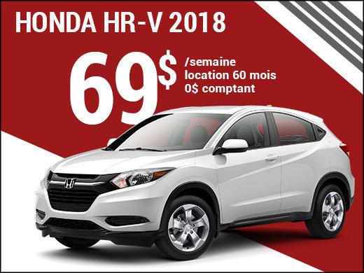 69$ par semaine pour rouler en Honda HR-V 2018 chez Avantage Honda à Shawinigan