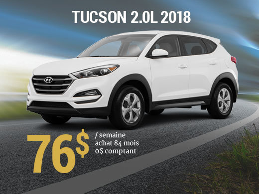 Offrez vous le Hyundai Tucson 2018 pour 76$/sem. chez Hyundai Shawinigan à Shawinigan