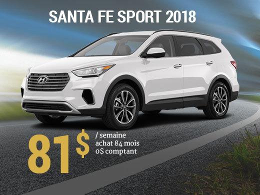 Seulement 81$/semaine pour un Hyundai Santa Fe Sport 2018 chez Hyundai Shawinigan à Shawinigan