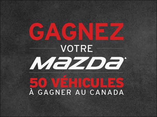 50 véhicules à gagner au Canada! chez Prestige Mazda à Shawinigan