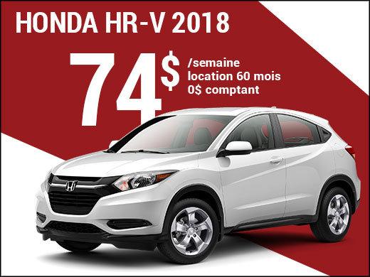 74$ par semaine pour rouler en Honda HR-V 2018 chez Avantage Honda à Shawinigan