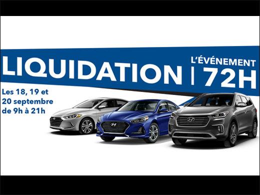 LIQUIDATION FINALE les 18, 19 et 20 septembre! chez Hyundai Trois-Rivières à Trois-Rivières