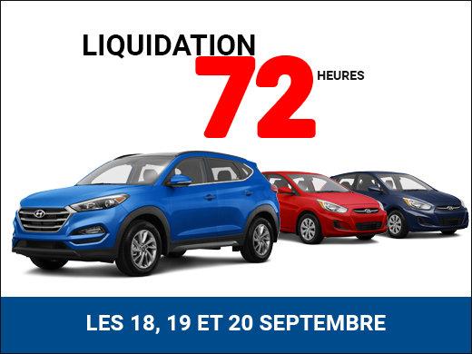LIQUIDATION FINALE les 18, 19 et 20 septembre! chez Hyundai Shawinigan à Shawinigan