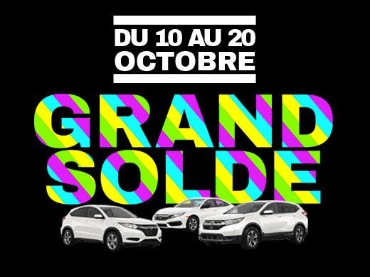 GRAND SOLDE DE L'AUTOMNE GROUPE VINCENT chez Avantage Honda à Shawinigan