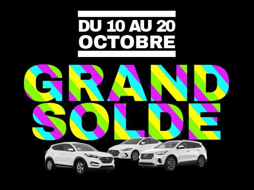 GRAND SOLDE DE L'AUTOMNE GROUPE VINCENT chez Hyundai Trois-Rivières à Trois-Rivières