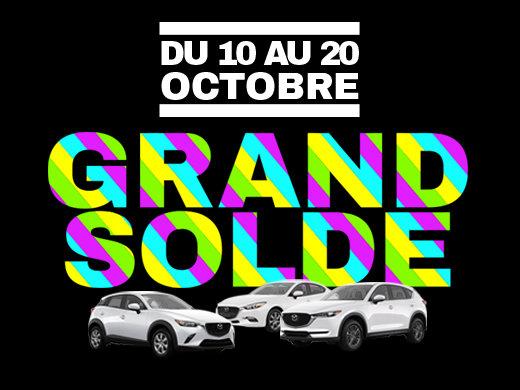 GRAND SOLDE DE L'AUTOMNE GROUPE VINCENT chez Prestige Mazda à Shawinigan