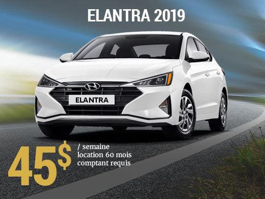 Roulez avec la nouvelle Hyundai Elantra Essential manuelle 2019 pour seulement 45$/sem (Copie) chez Hyundai Trois-Rivières à Trois-Rivières
