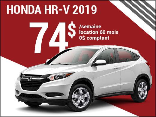 74$ par semaine pour rouler en Honda HR-V 2019 chez Avantage Honda à Shawinigan