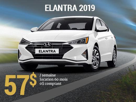 Roulez avec la nouvelle Hyundai Elantra 2019 pour seulement 57$/sem chez Hyundai Trois-Rivières à Trois-Rivières