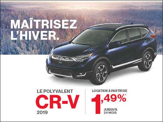 CR-V 2019: Location 1,49% sur 24 mois! chez Avantage Honda à Shawinigan