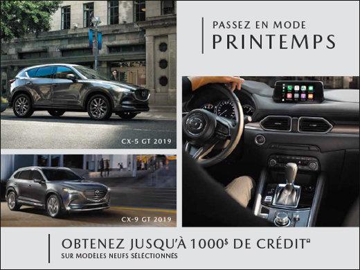Jusqu'à 1000$ de crédit sur modèles sélectionnés! chez Prestige Mazda à Shawinigan