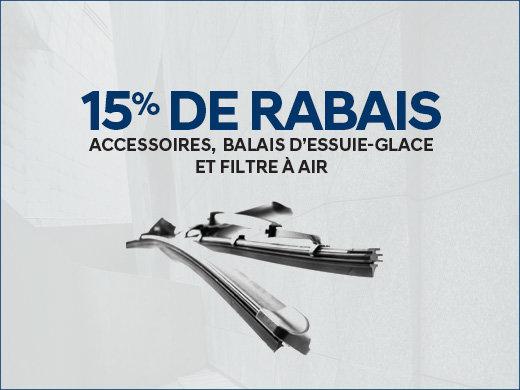 15% de RABAIS sur les balais d'essuie-glace chez Hyundai Trois-Rivières à Trois-Rivières