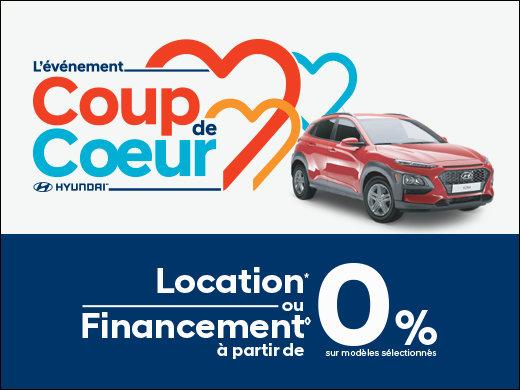 Location ou financement à partir de 0%! chez Hyundai Shawinigan à Shawinigan