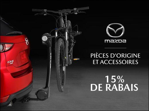 15% de RABAIS sur accessoires d'origine MAZDA chez Groupe Vincent à Shawinigan et Trois-Rivières